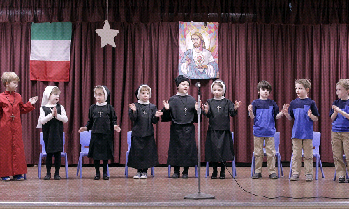 Kindergarten performs Blessed Clelia play