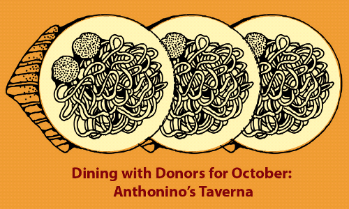Dine with Donors at Anthonino's